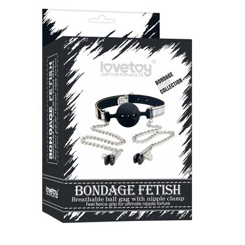 "Кляп с зажимами на соски ""Bondage Fetish"""