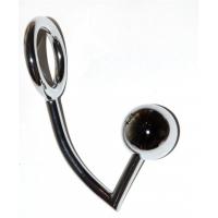 Анальная металлическая втулка с кольцом для члена